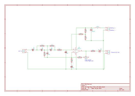 VLF Filter Schematic